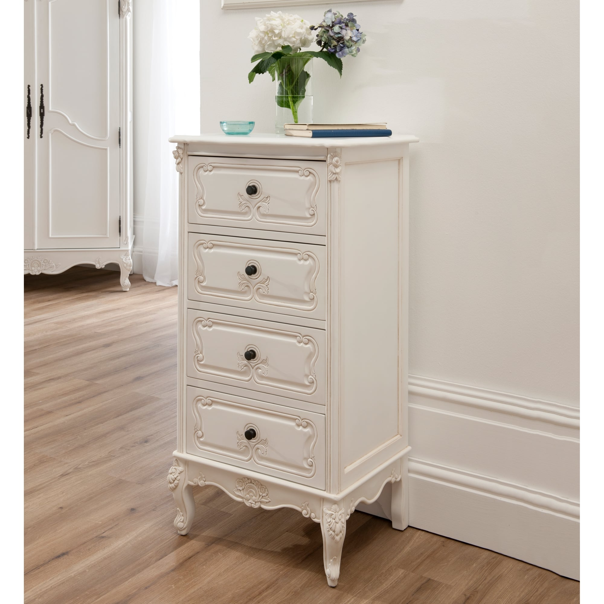 This Baroque Antique French Tallboy Chest | Shabby Chic