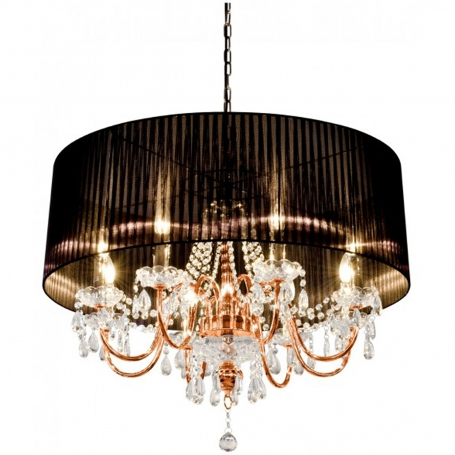 Beaumont Eight Light Copper Chandelier