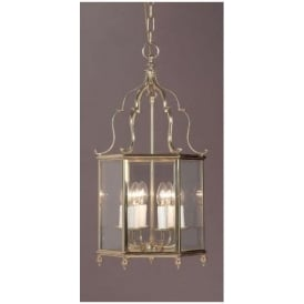 Belgravia Antique French 5 Light Polished Brass Lamp