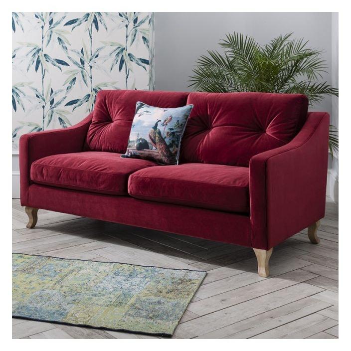Berry Elodie Velvet Sofa