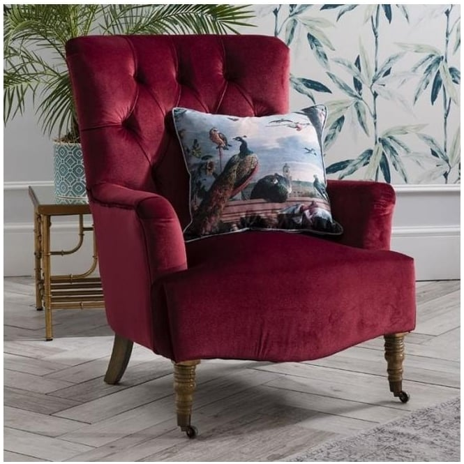 Berry Everly Velvet Chair