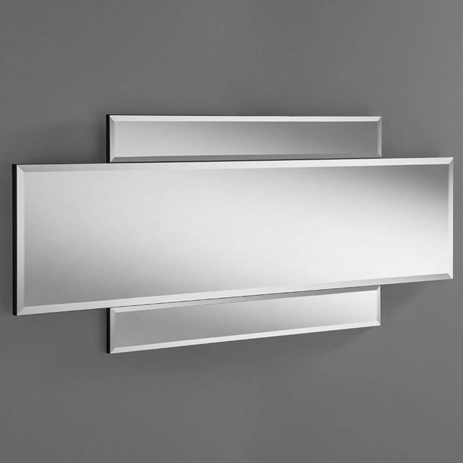 Bevelled Contemporary Double Wall Mirror