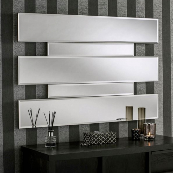 Bevelled Contemporary Quad Wall Mirror
