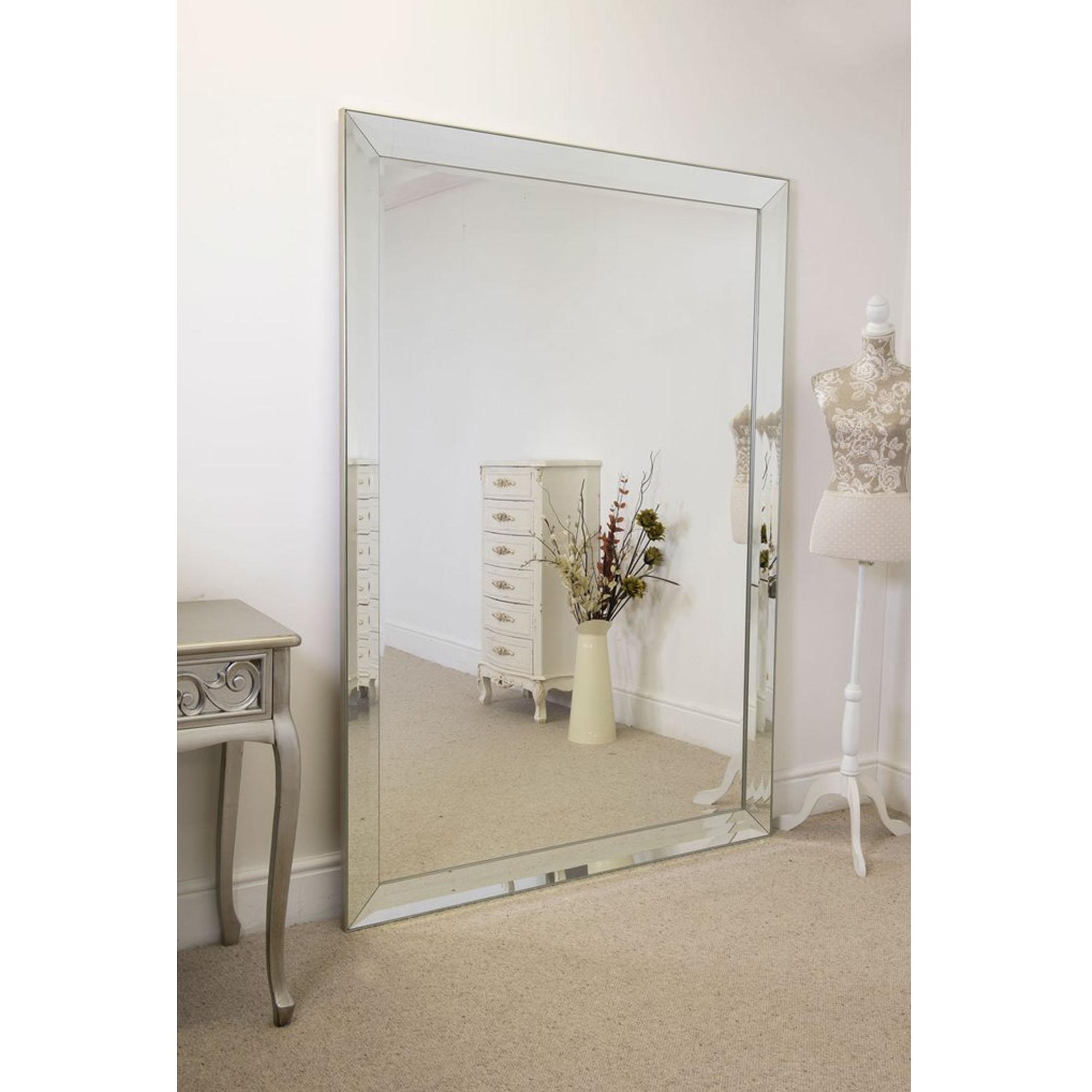 Bevelled Large Venetian Frameless Floorstanding Mirror Hd365