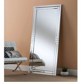Bevelled Rectangular Leaner Mirror