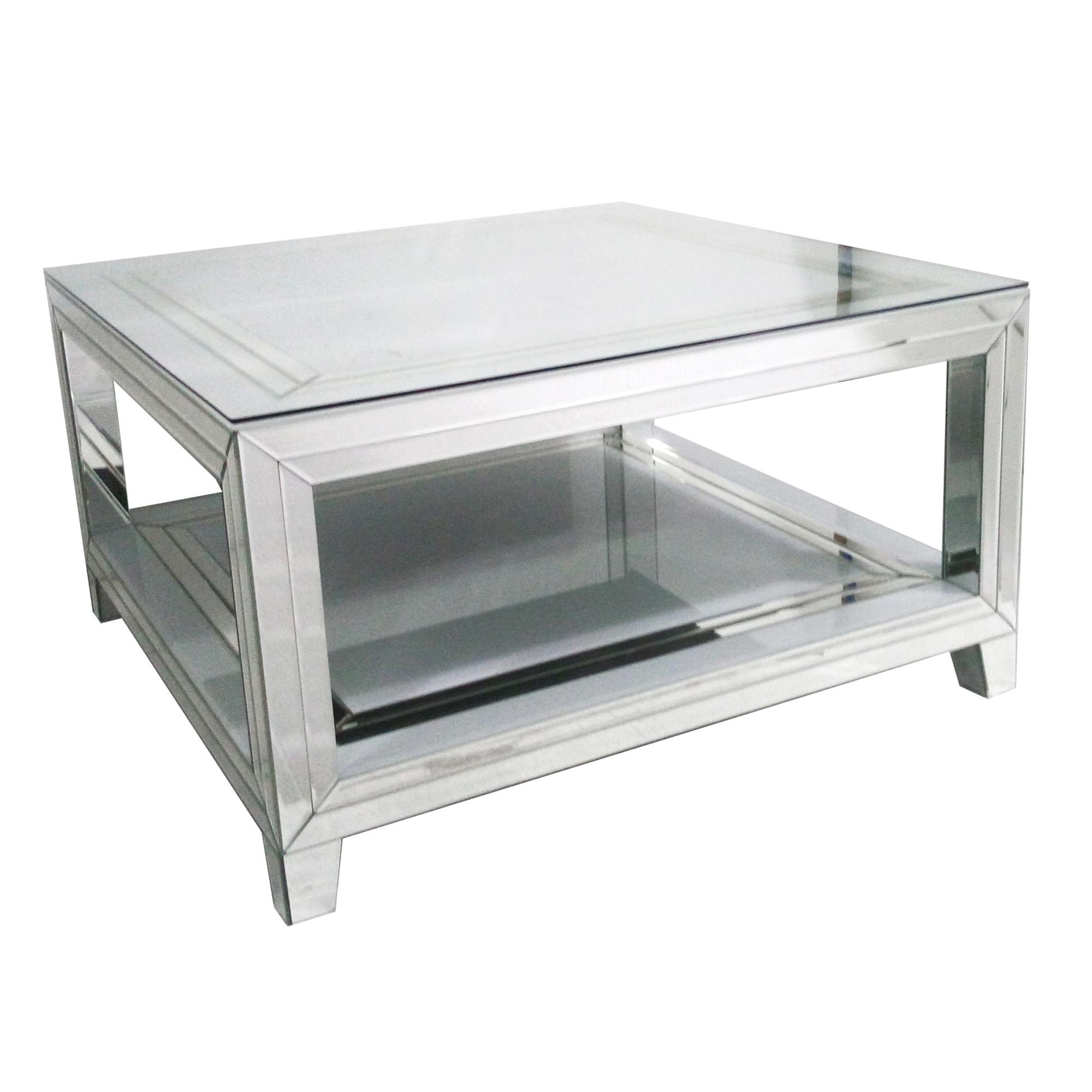 - Bianco Mirrored Square Coffee Table Mirrored Furniture