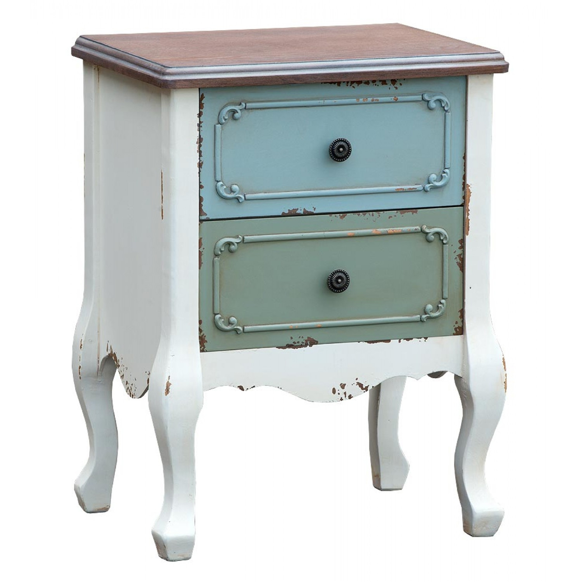 Antique French Style Paras Bedside Table French Bedside Tables