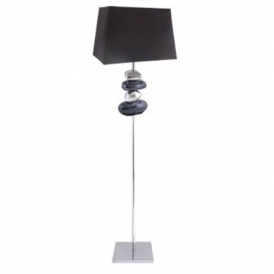 Black and Chrome Pebble Floor Lamp