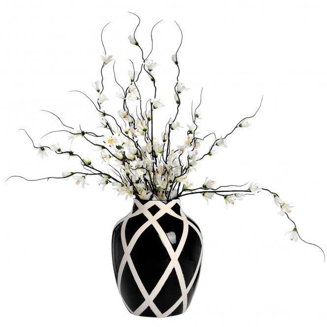 Black and White Contemporary Vase