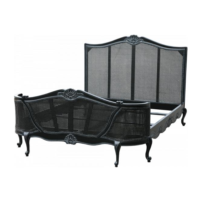 Black Antique French Style Bed