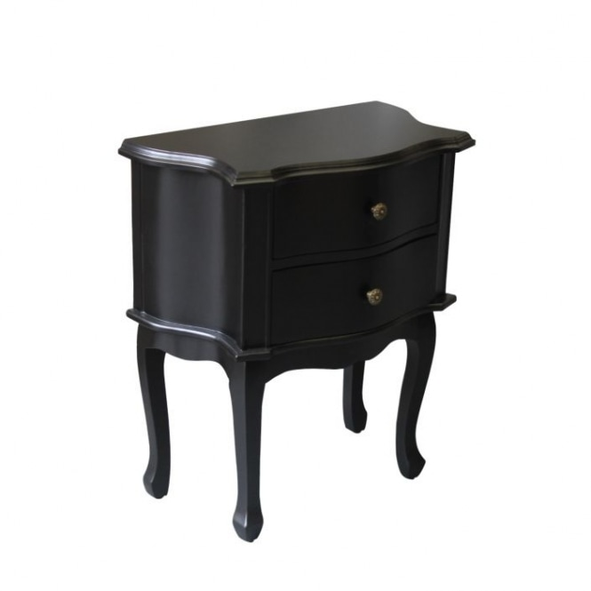 Black Antique French Style Bedside Table