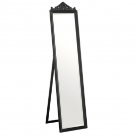 Black Antique French Style Boudoir Floor Standing Mirror