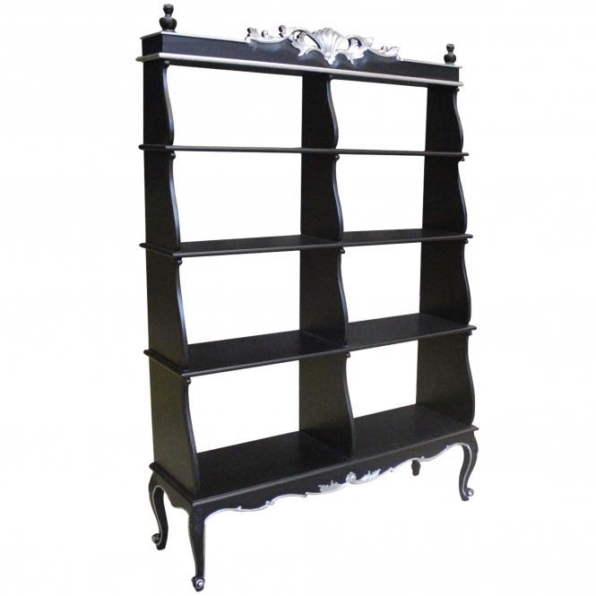 Black Antique French Style Display Cabinet