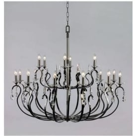 Black Antique French Style Pendant Light