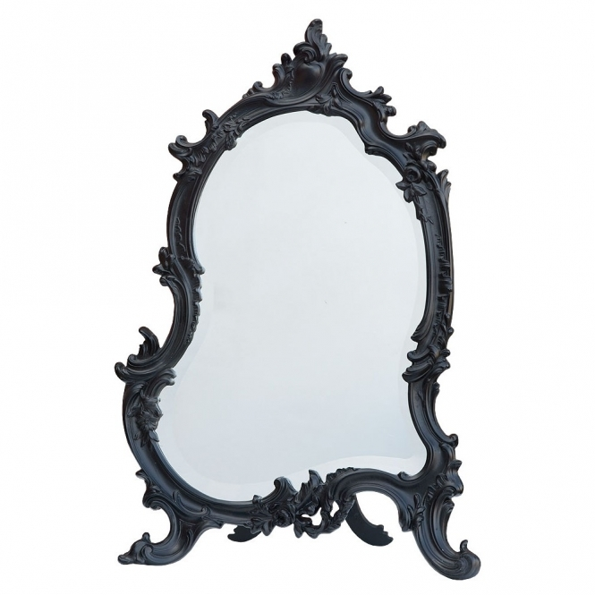 Black Antique French Style Table Mirror
