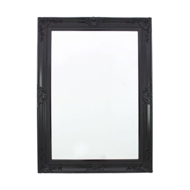 Black Baroque Antique French Style Wall Mirror