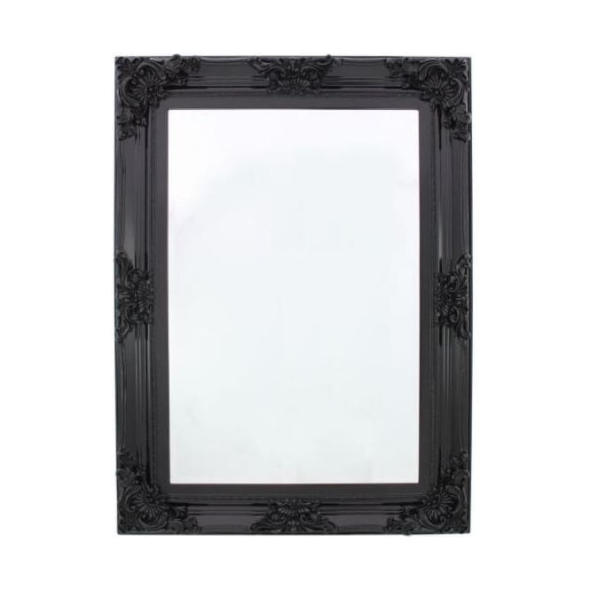 Black Baroque Large Antique French Style Wall Mirror