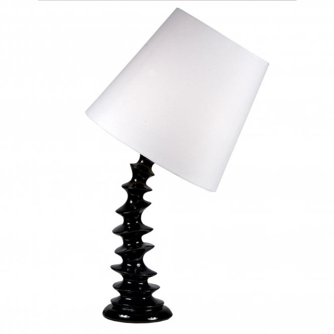 Black Curved Modern Table Lamp