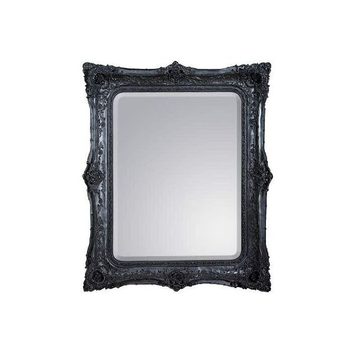 black decorative antique french style mirror french mirrors from homesdirect 365 uk. Black Bedroom Furniture Sets. Home Design Ideas