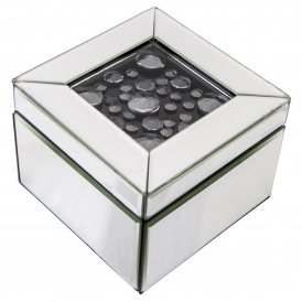 Black Diamond Mirrored Jewellery Box
