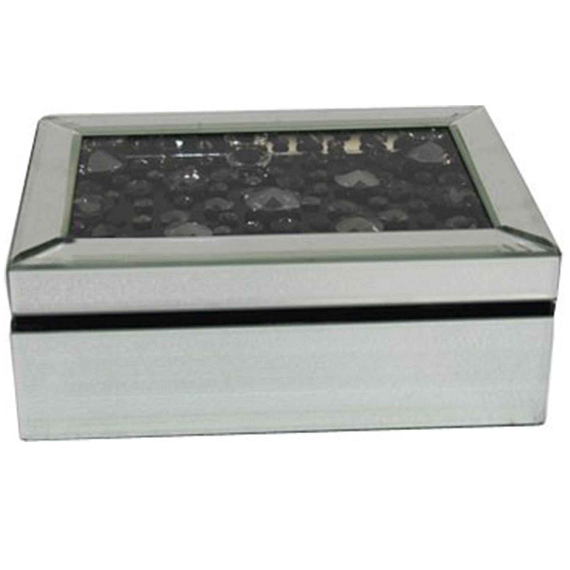 Black Diamond Mirrored Jewellery Box French Furniture