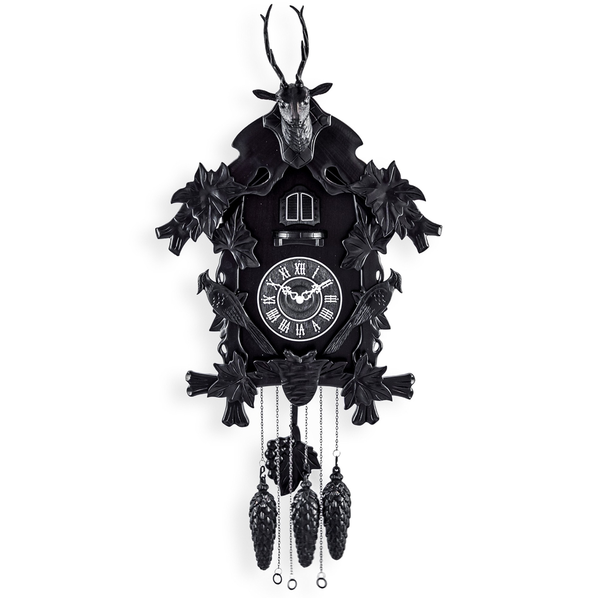 Black Forest Traditional Large Cuckoo Wall Clock Black Cuckoo Clock