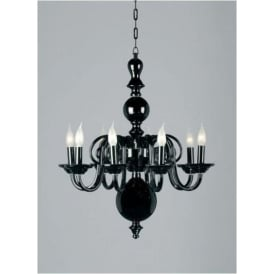 Black Glass Antique French Style Pendant Light