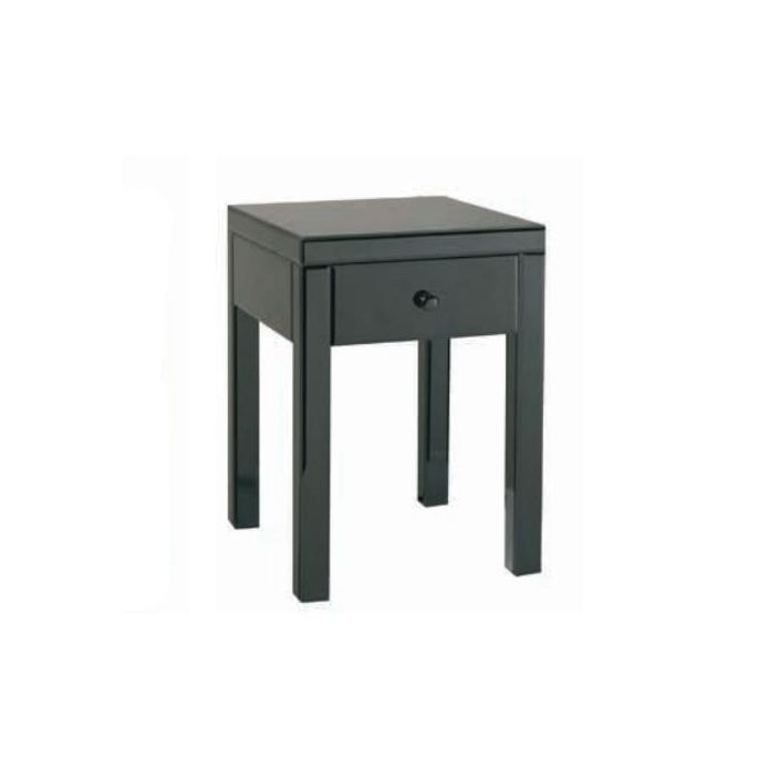 competitive price 9d9b2 7fa66 Black Glass Bedside Table