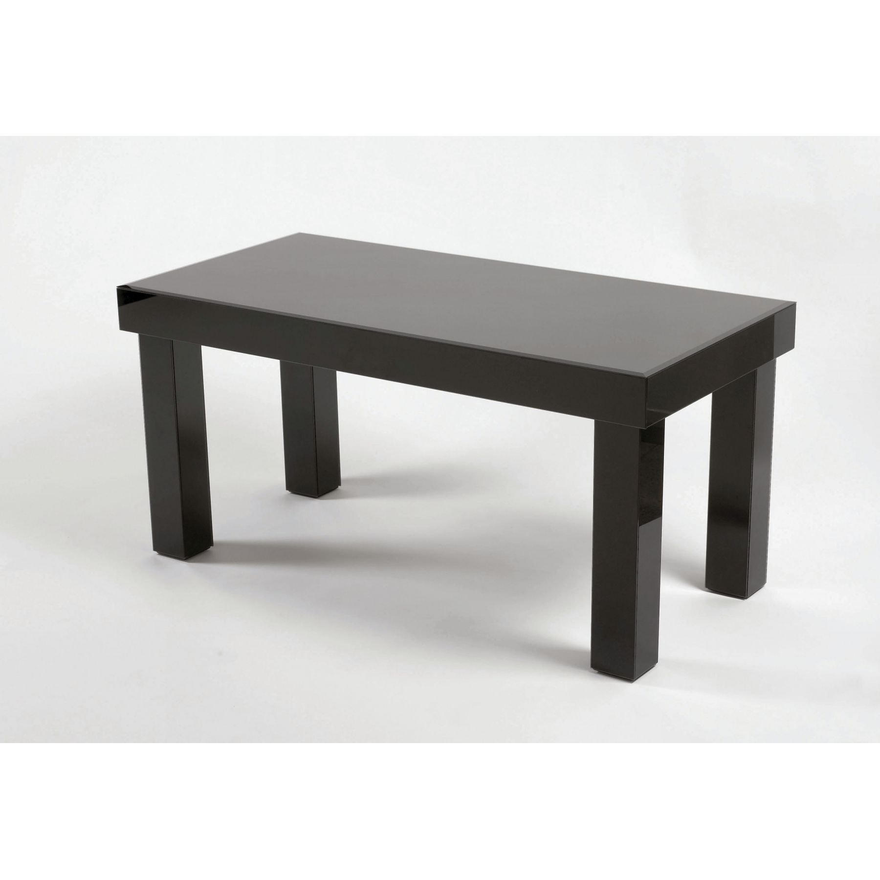 Black Glass Coffee Table 2 Glass Furniture From Homesdirect 365 Uk
