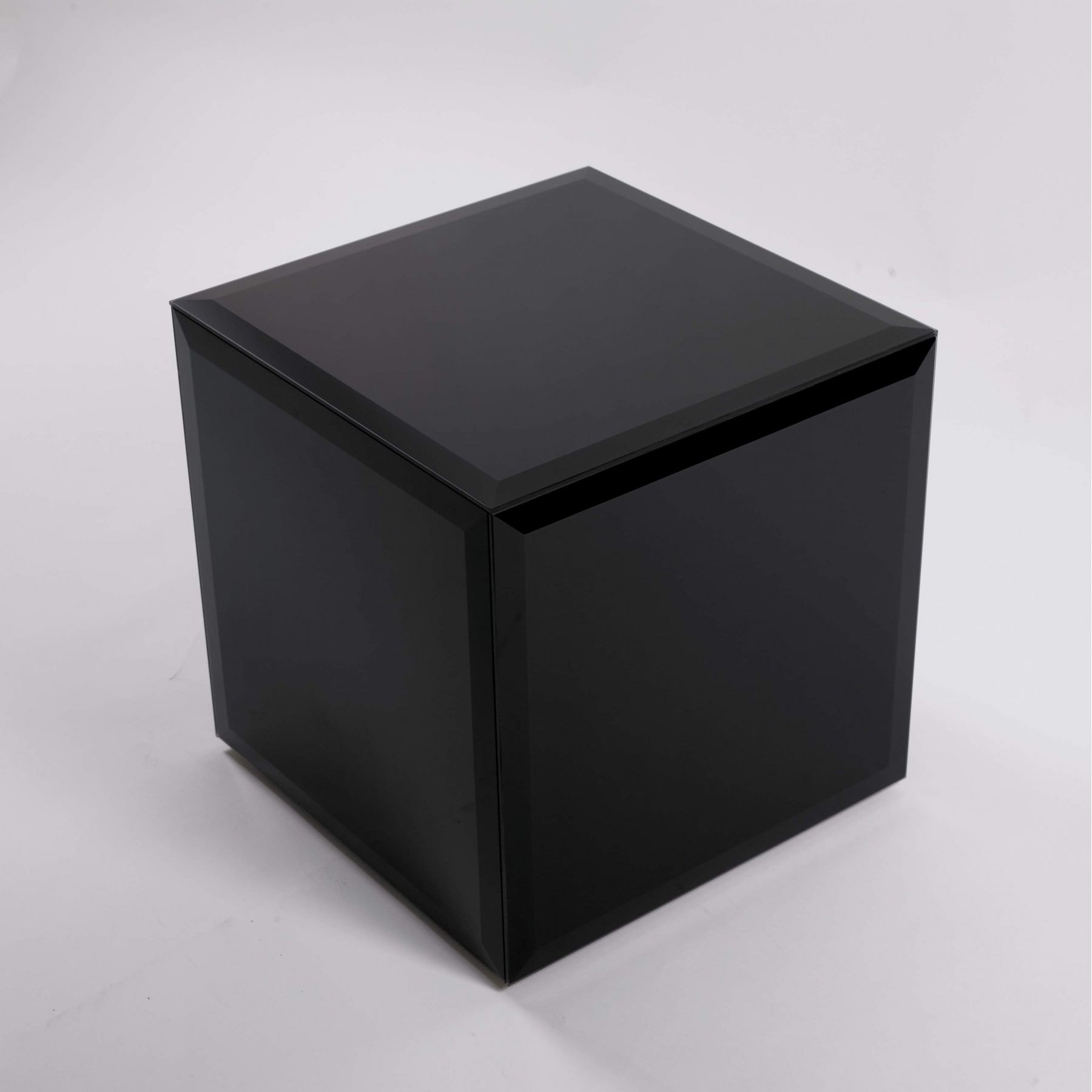 Black Glass Cube Glass Furniture From Homesdirect 365 Uk