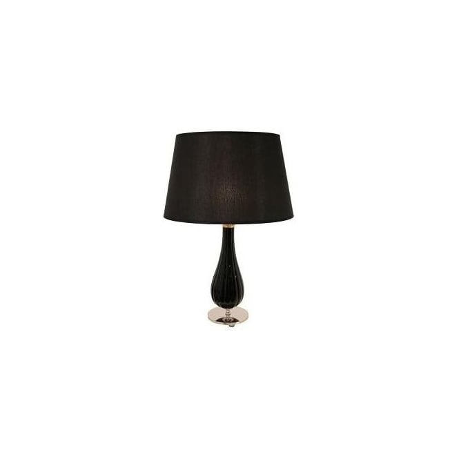 Black Glass Lamp (Base Only)