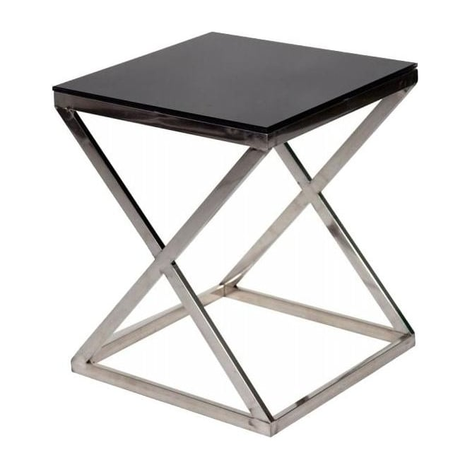 Black Glass Table