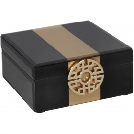 Black & Gold Jewellery Box