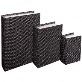 Black Jewellery Book Boxes (Set Of 3)