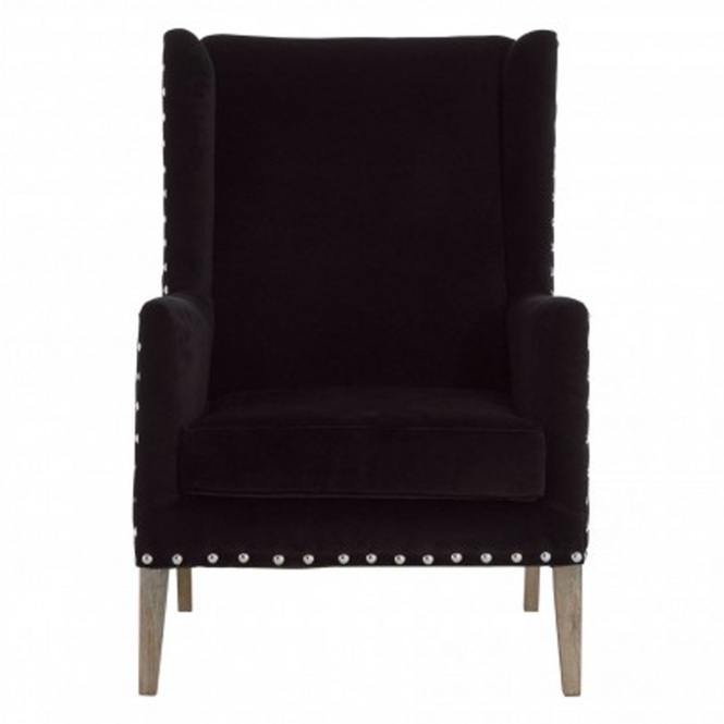 Black Kensington Townhouse Armchair