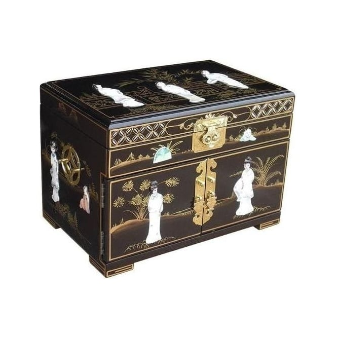 Black Lacquer Jewellery Box