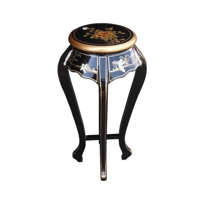 Black Lacquer Plant Stand