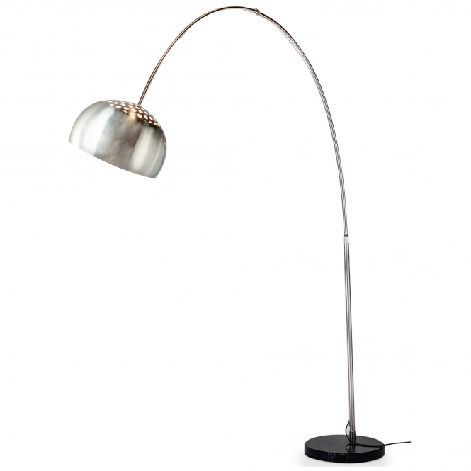 Black Large Steel Arc Floor Lamp