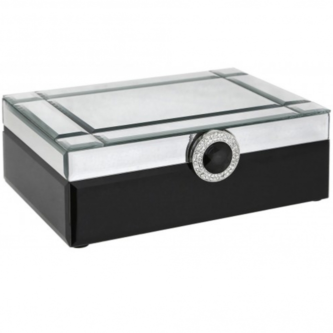 Black & Mirror Jewellery Box