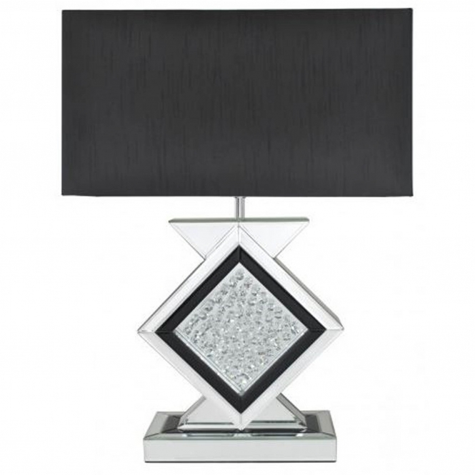 Homes Direct 365 Black Mirrored Astoria Table Lamp