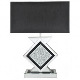 Black Mirrored Astoria Table Lamp