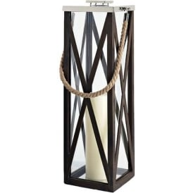 Black Narrow Wooden Lantern