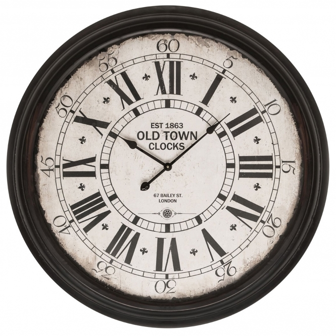 Black Old Town Wall Clock Modern Amp Contemporary Furniture