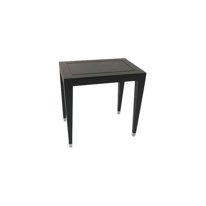Black Pedestal Table Small
