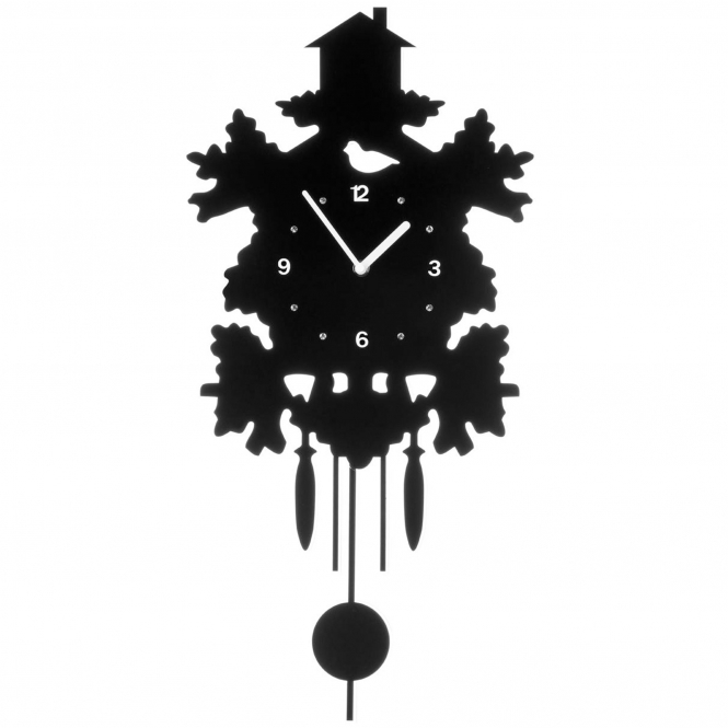 Black Pendulum Wall Clock