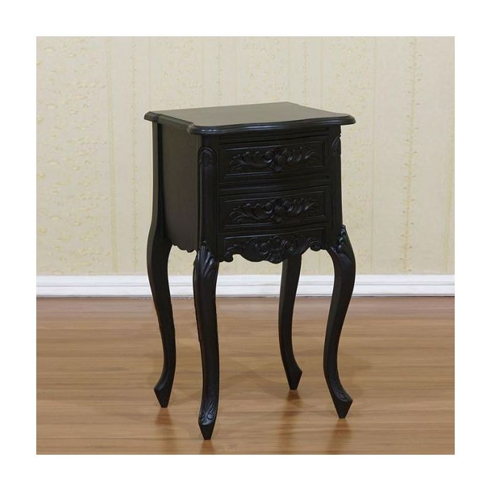 This Black Rococo Antique French Nightstand Works