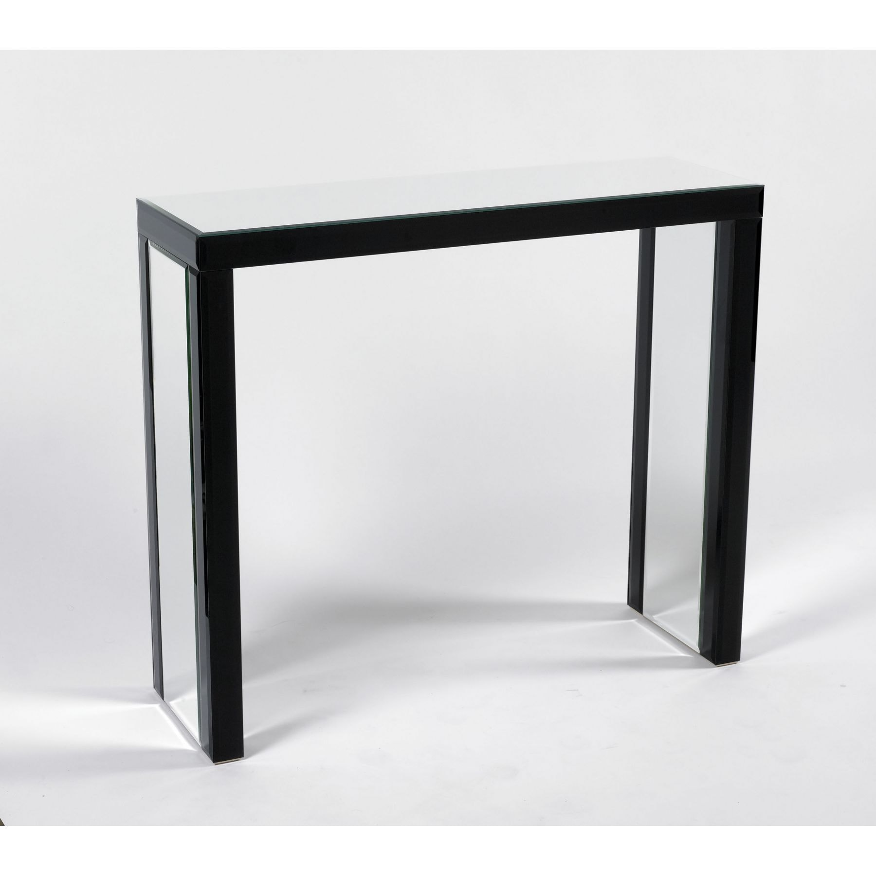 Black Silver Glass Console Table Glass Furniture from