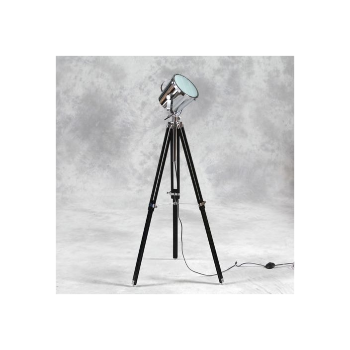 Black tripod spotlight floor lamp homesdirect365 - Tripod spotlight lamp ...