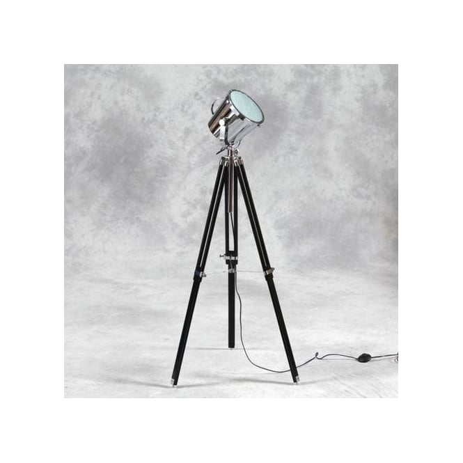 Black Tripod Spotlight Floor Lamp