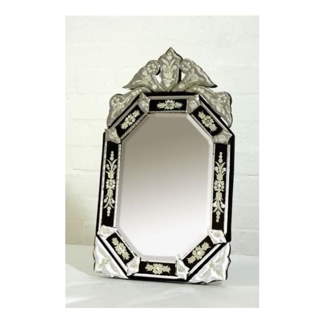 Black Venetian Table Mirror
